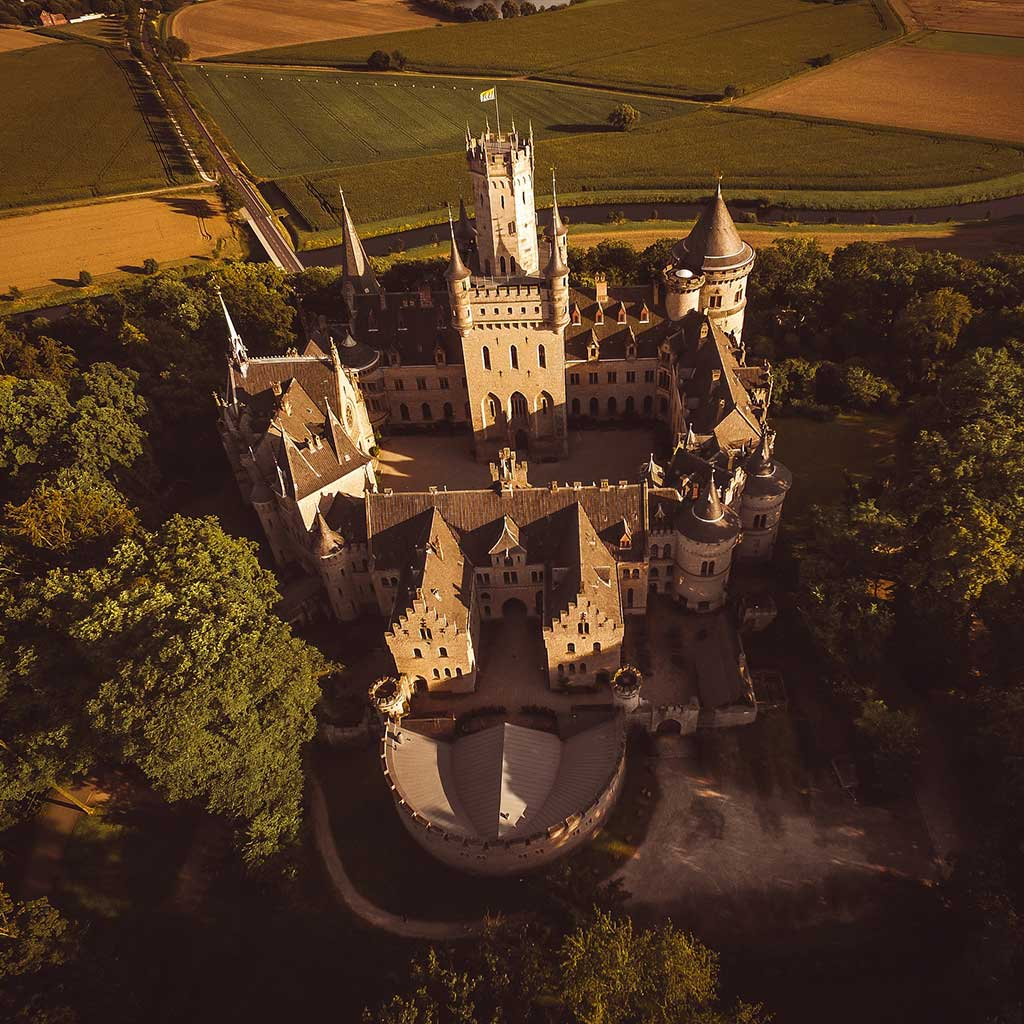Zdjęcia z drona na stronach internetowych